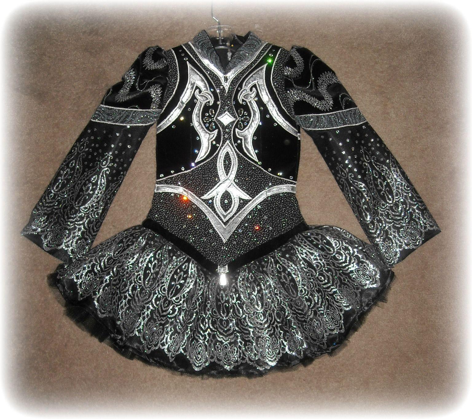 Irish Dance Solo Dress Costume - pretty fabric