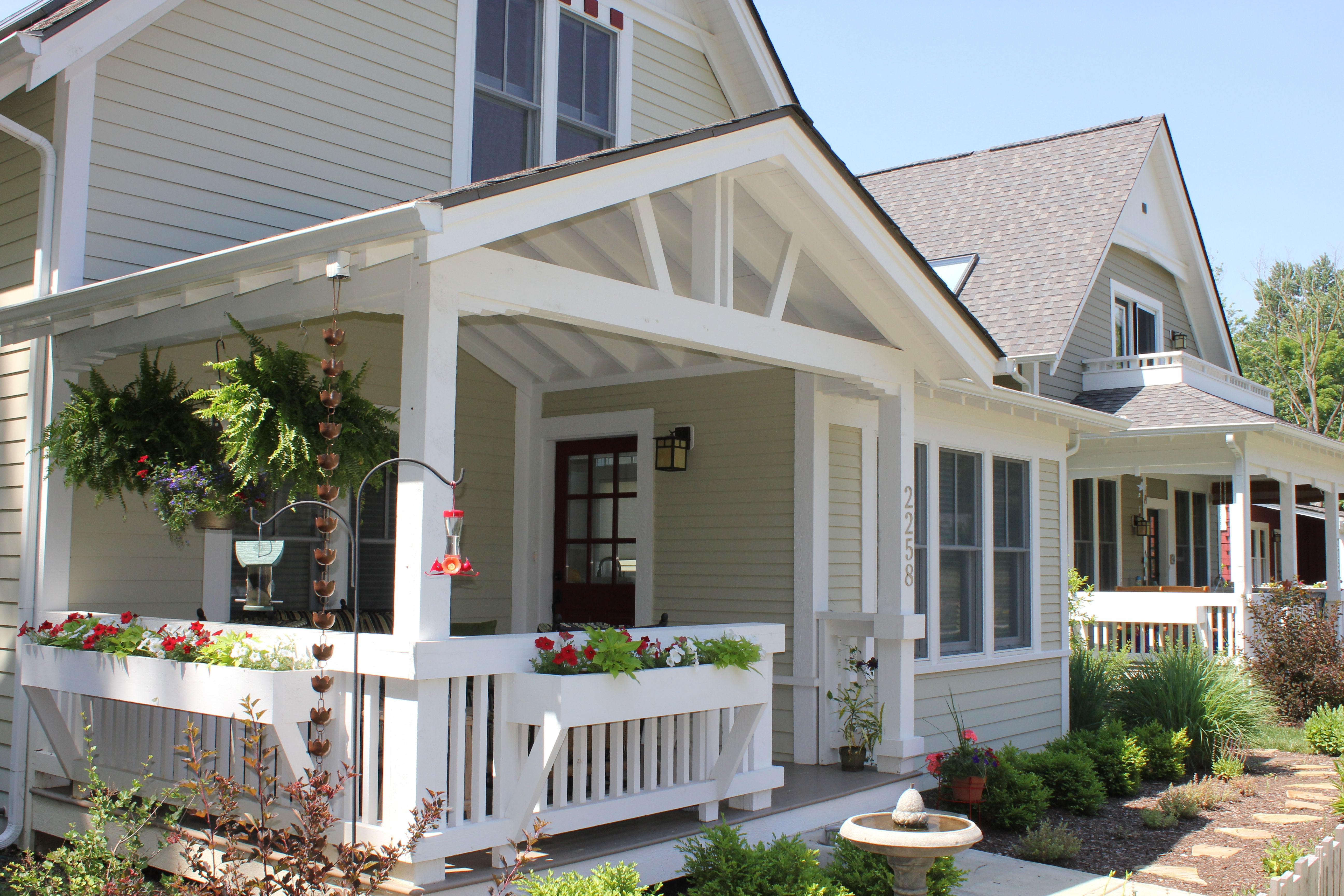 make front porch more welcoming with hanging planters