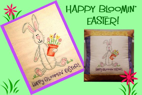 Happy bloomin easter stitchery too cute for the spring easter happy bloomin easter stitchery too cute for the spring easter negle Choice Image