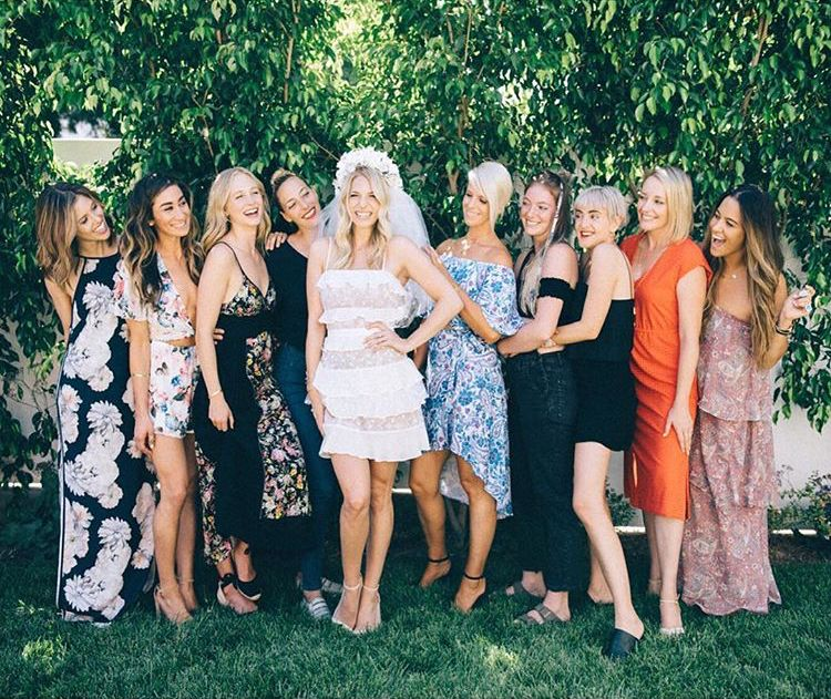 candice king out with her family and later with friends at a bridesmaids dresses fitting and bridal shower on august 18 2017 in los angeles california
