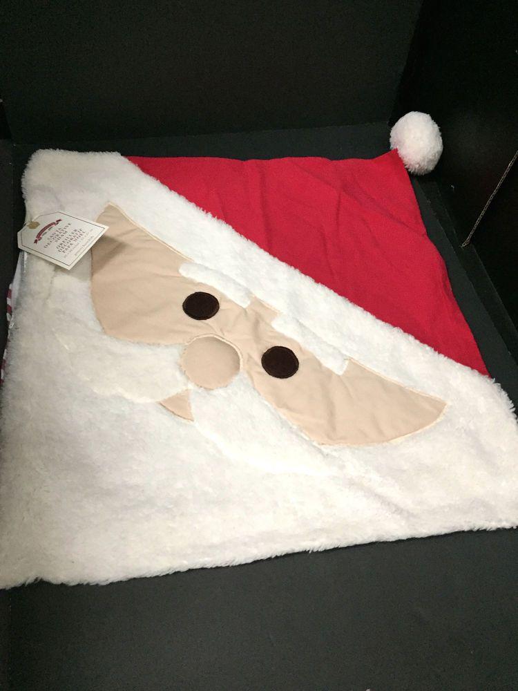 PoTTery BaRn KiDs SANTA PILLOW Cover Sham Christmas Holiday Dear Friend GIFT  #PotteryBarnKids