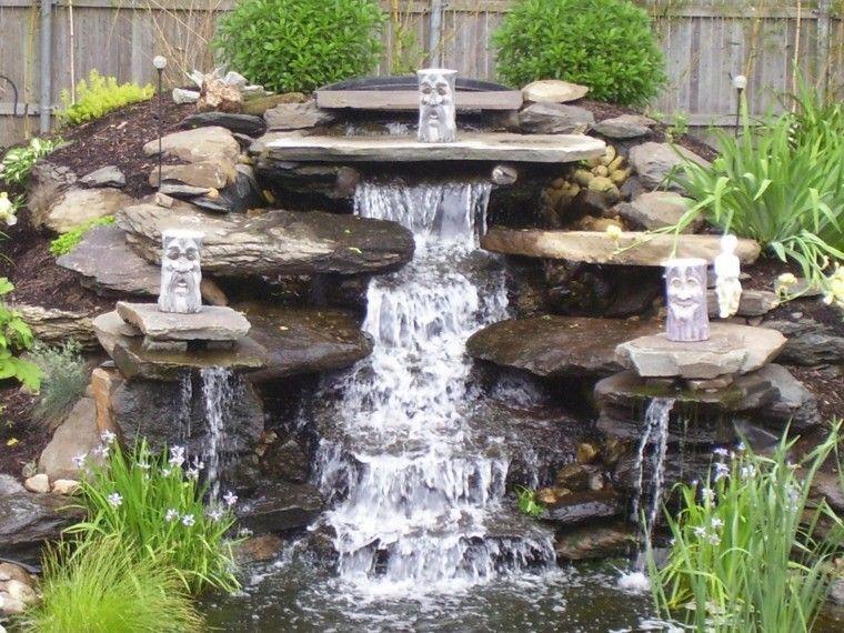 Cascadas y cataratas en el jardín - 63 ideas refrescantes Agua - fuentes de cascada
