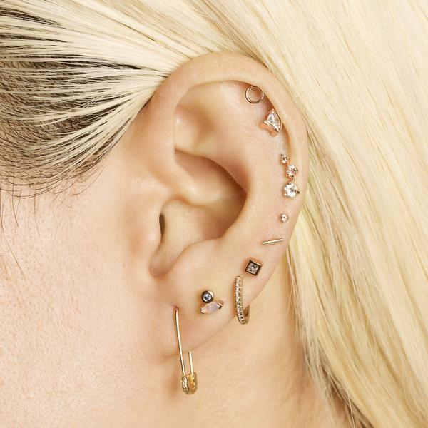 Sparkle Safety Pin Earring – Earrings Aesthetic 2020