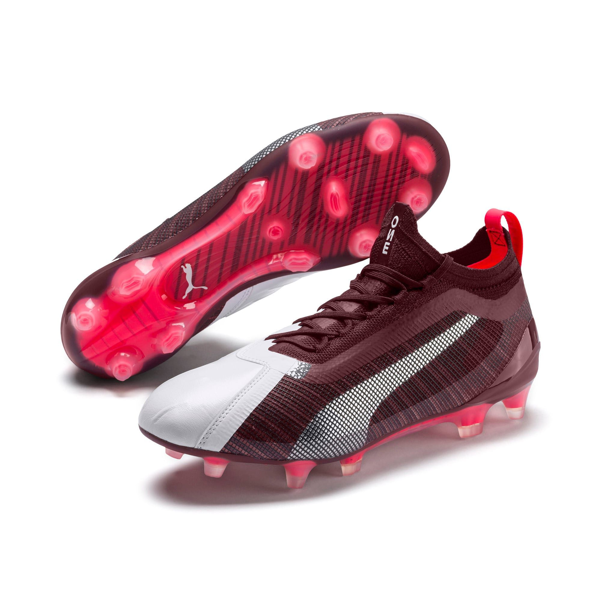 PUMA One 5.1 Women's Football Boots in White/Vineyard Wine ...