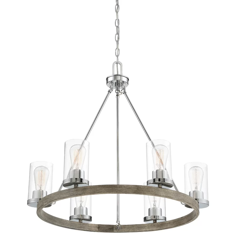5 Light Shaded Wagon Wheel Chandelier Wagon Wheel Chandelier Chandelier Shades Chandelier