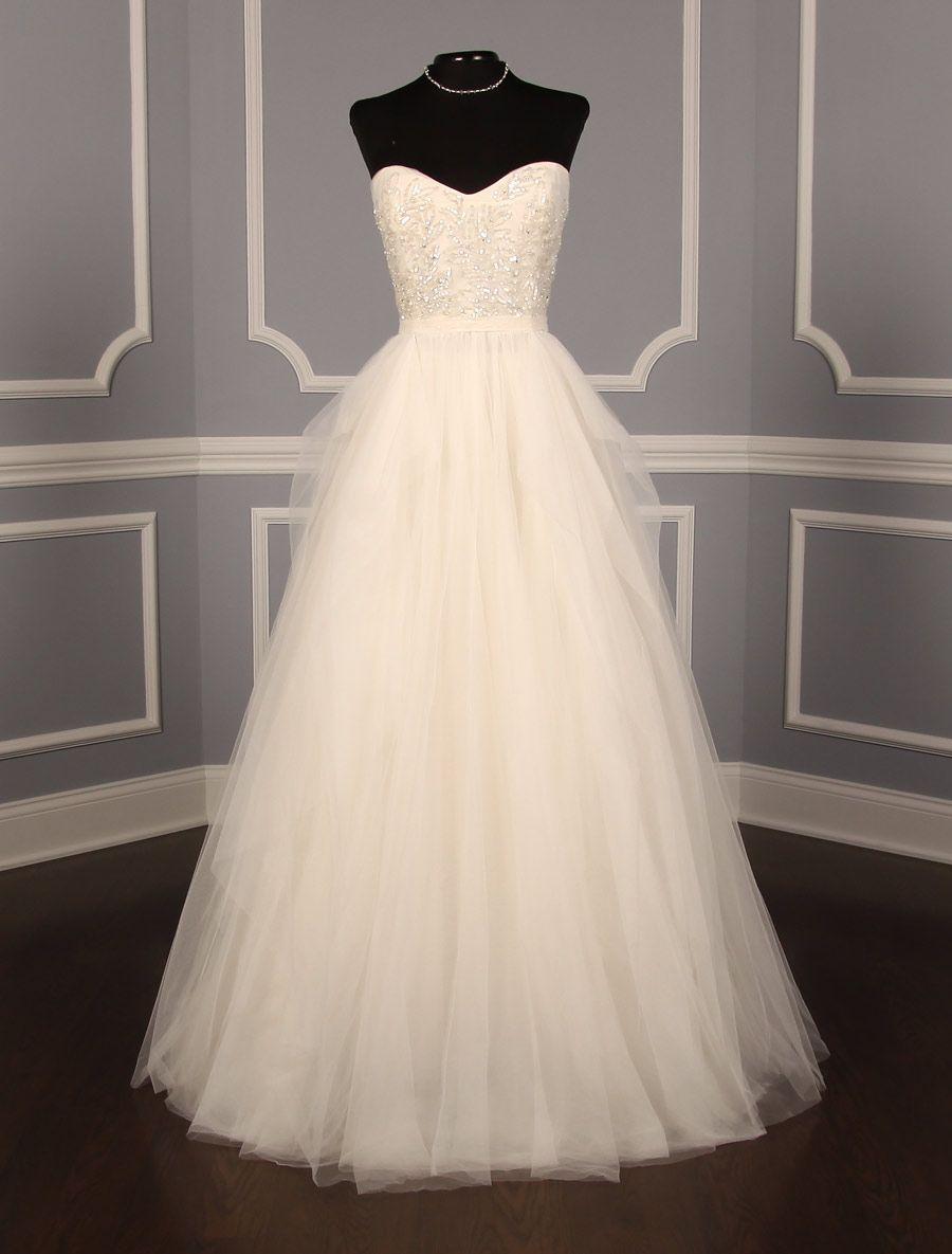 Reem Acra Eternity Discount Designer Wedding Dress Aline Wedding