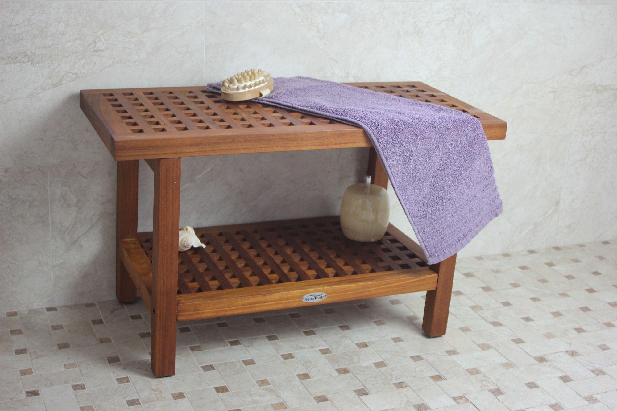Grate Teak Shower Bench