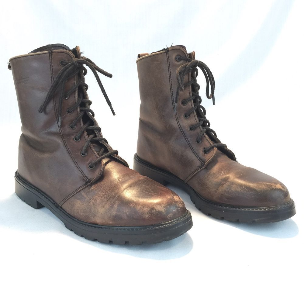 Martino Boots Brown Lace Up Water