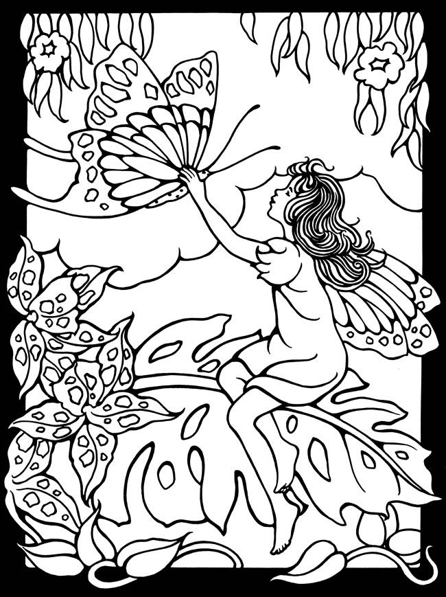 Welcome To Dover Publications Magic Garden Fairies Stained Glass Coloring Book