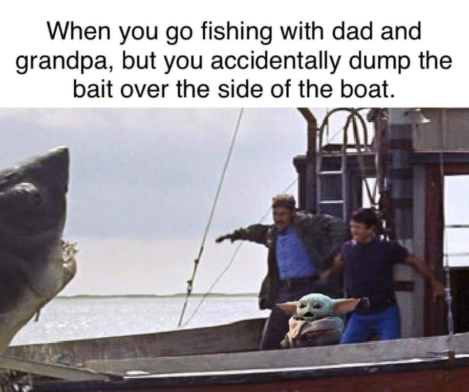 Baby Yoda In 2020 Yoda Fishing Quotes Funny Fishing Humor