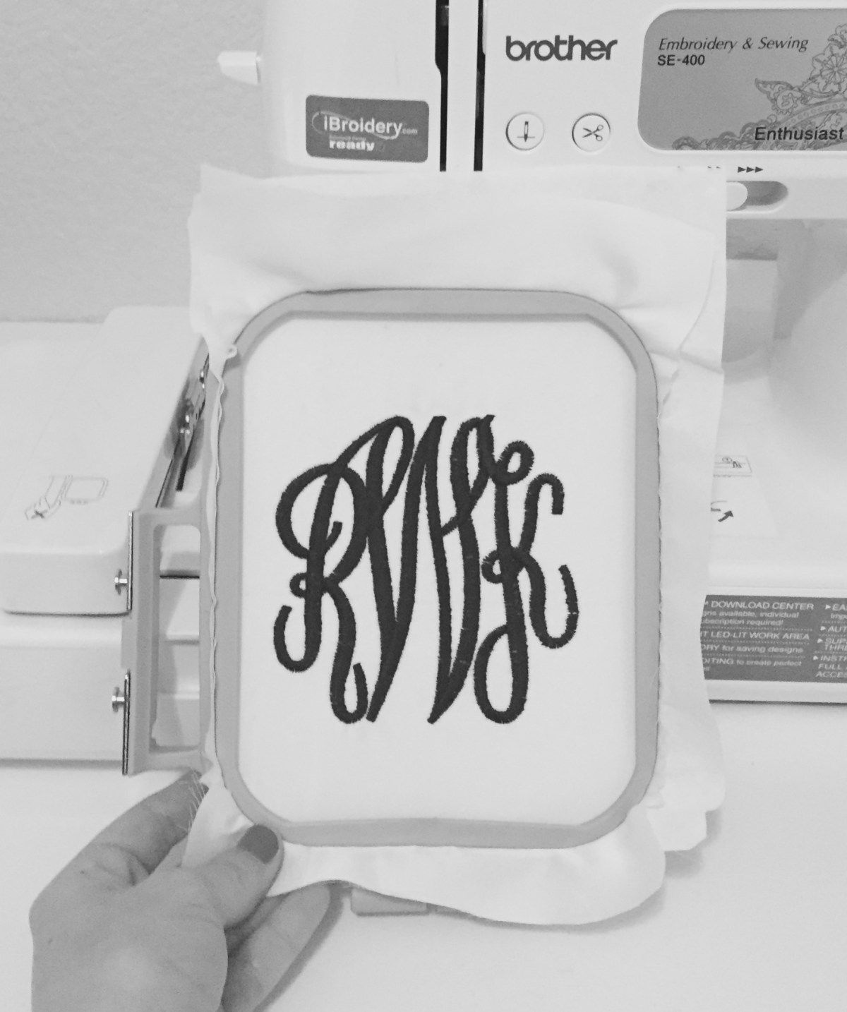 How To Embroider The Classic Monogram Sewing machine