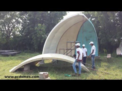 Expanded Polystyrene Made Dome House Youtube Ho