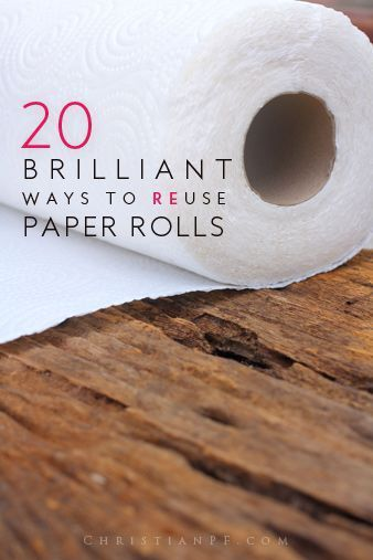 20 Brilliant Ways To Use Paper Rolls Paper Towel Tp Rolls