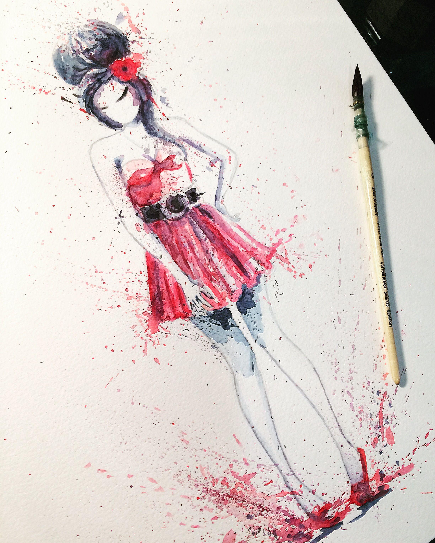 Amy Winehouse Watercolor Illustration En 2020 Illustration