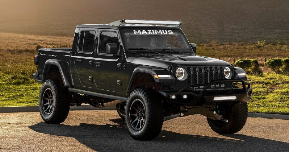 2020 Hpe Jeep Gladiator Maximus 1000 Concept Front Angle View