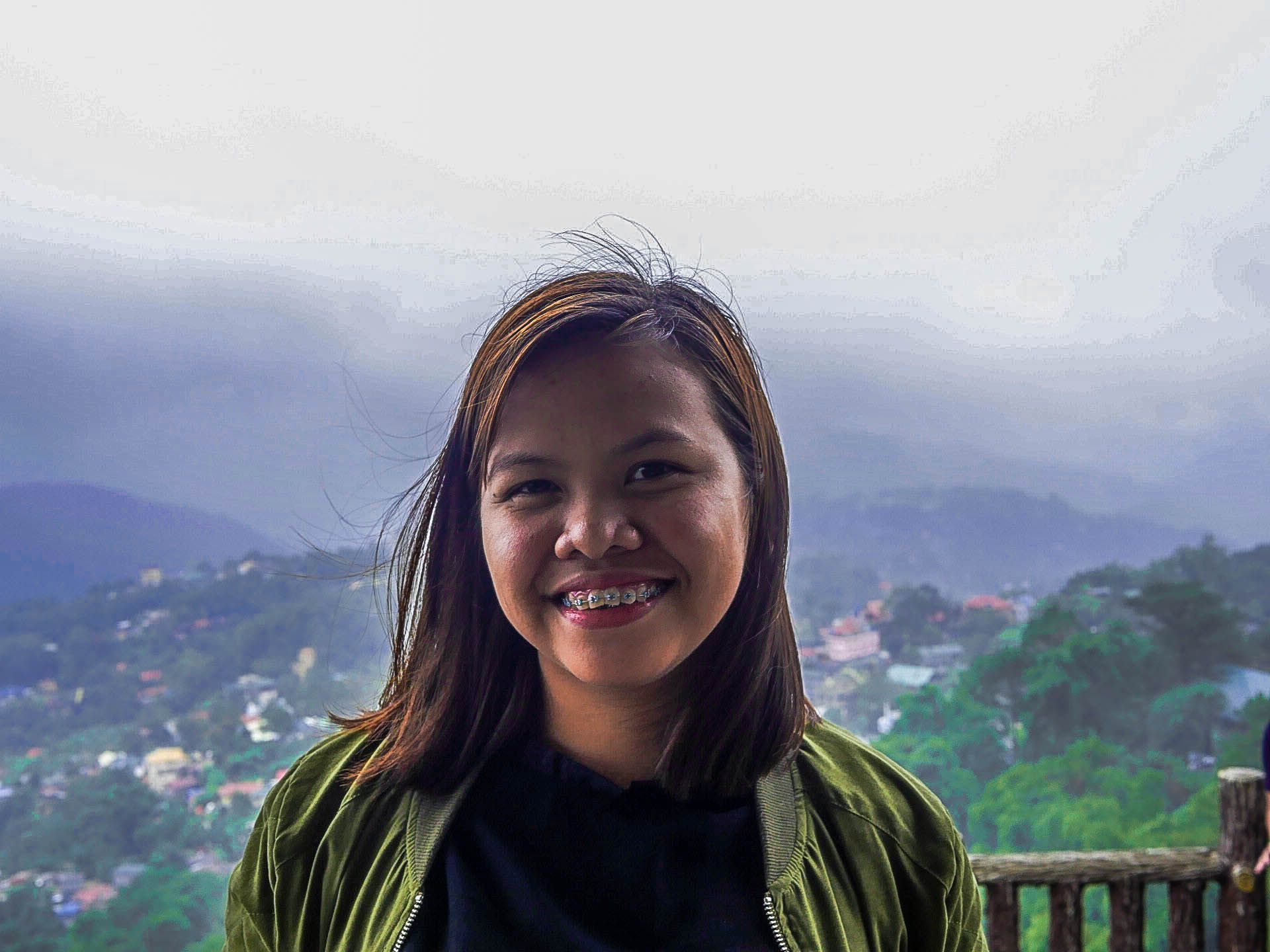 My Filipina girlfriend at Mines View Park in Baguio City