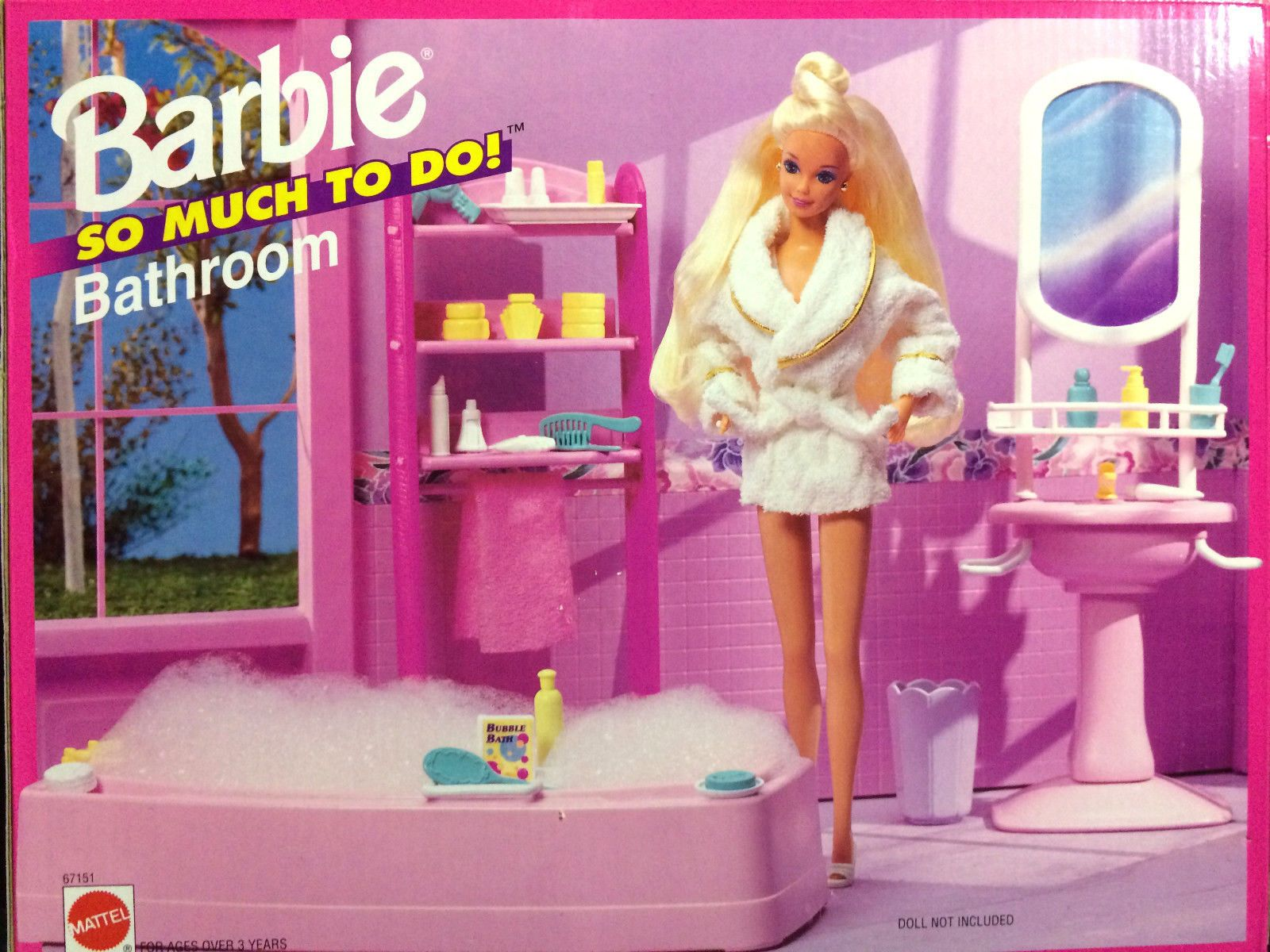 Barbie So Much To Do Bathroom Playset By Mattel 1995