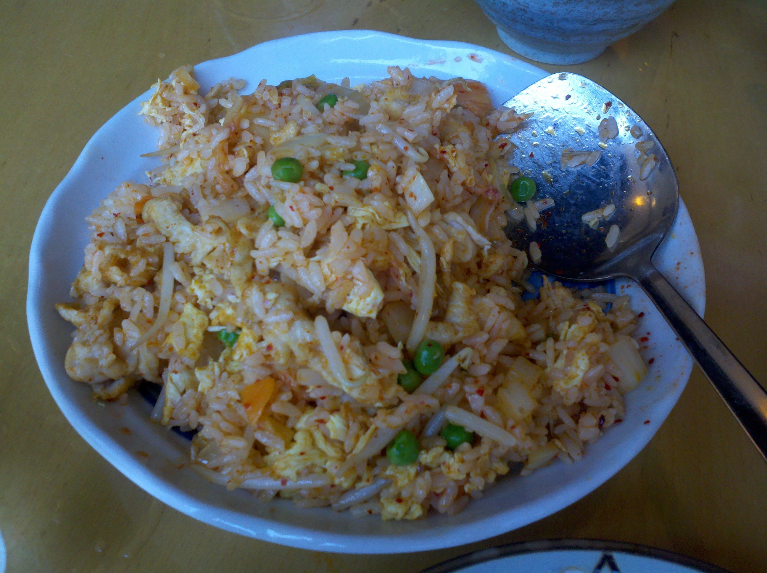 kim chi fried rice at rose tea cafe yum they also have the best