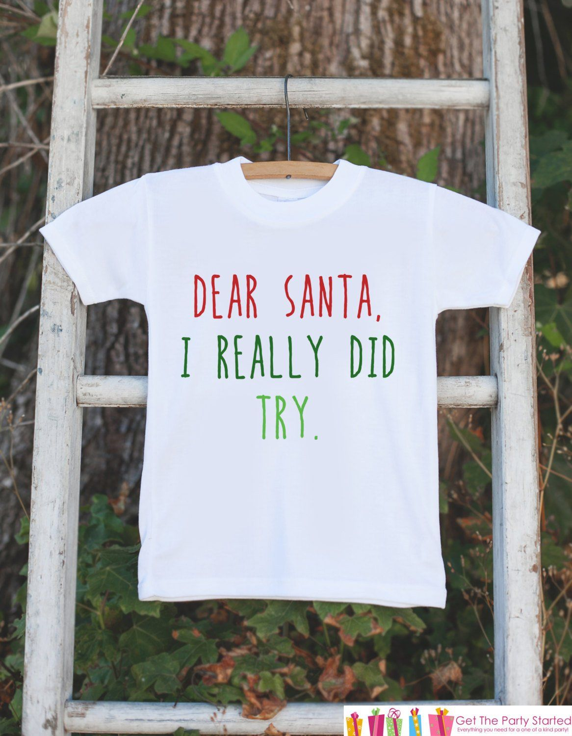 Funny Christmas Shirts  Funny Kids Santa Outfit  Onepiece or