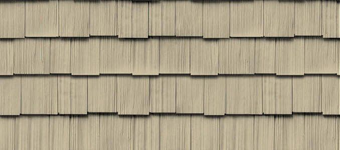 Cedar Impressions Double 9 Staggered Rough Split Shakes Shake Shingle Siding Vinyl Polymer Certainteed