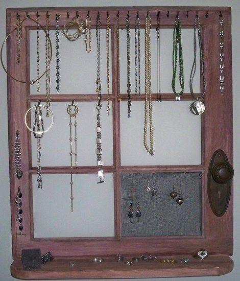 jewelry organizer Shelves hooks and hangers Pinterest