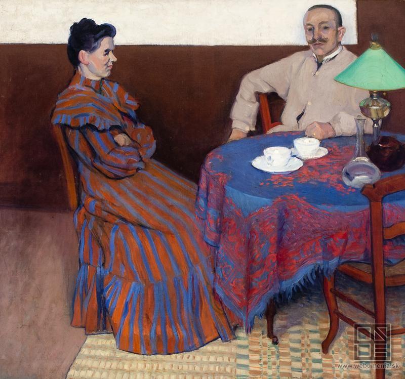 Július Andorko: Manželia pri stole:1890 - 1910