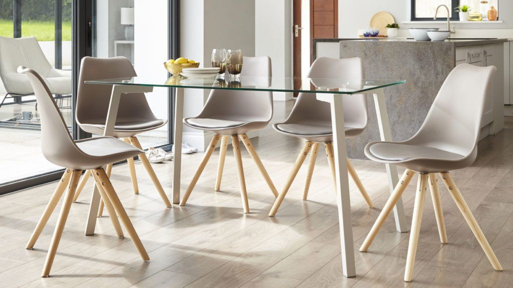 Modern Contemporary Dining Chairs Leather White Coloured Chrome Danetti Uk Dining Room Chairs Modern Modern Dining Table Glass Dining Table Designs