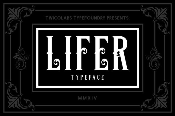 Lifer by Twicolabs Fontdation on @creativemarket