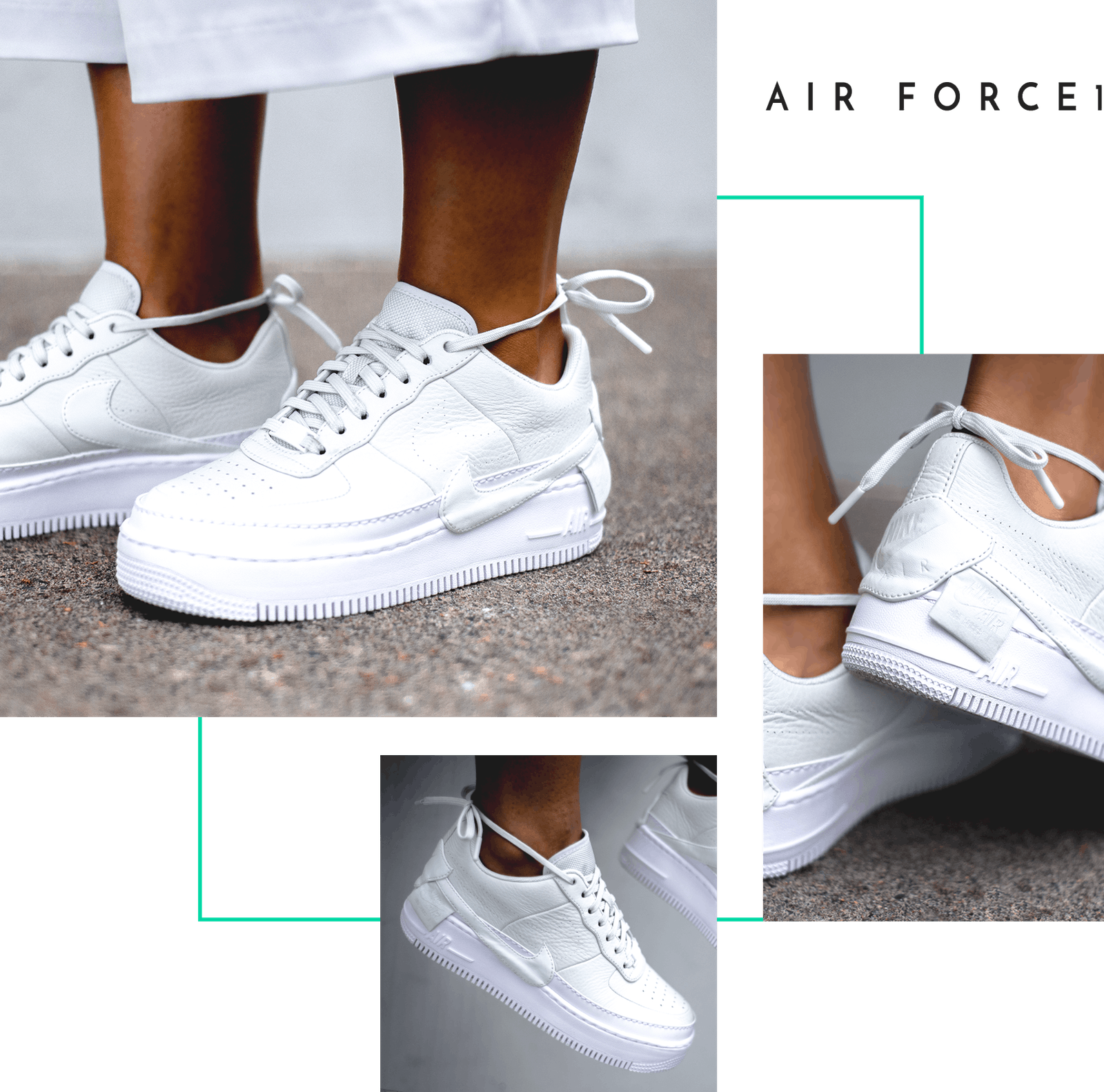 Nike The 1 Reimagined Jester XX Air Force 1 Jordan Jumpman Boot Logo Swoosh  Women Female Design Collective Release Date Where to Buy Closer On Feet  Look ... b5fe0ee31