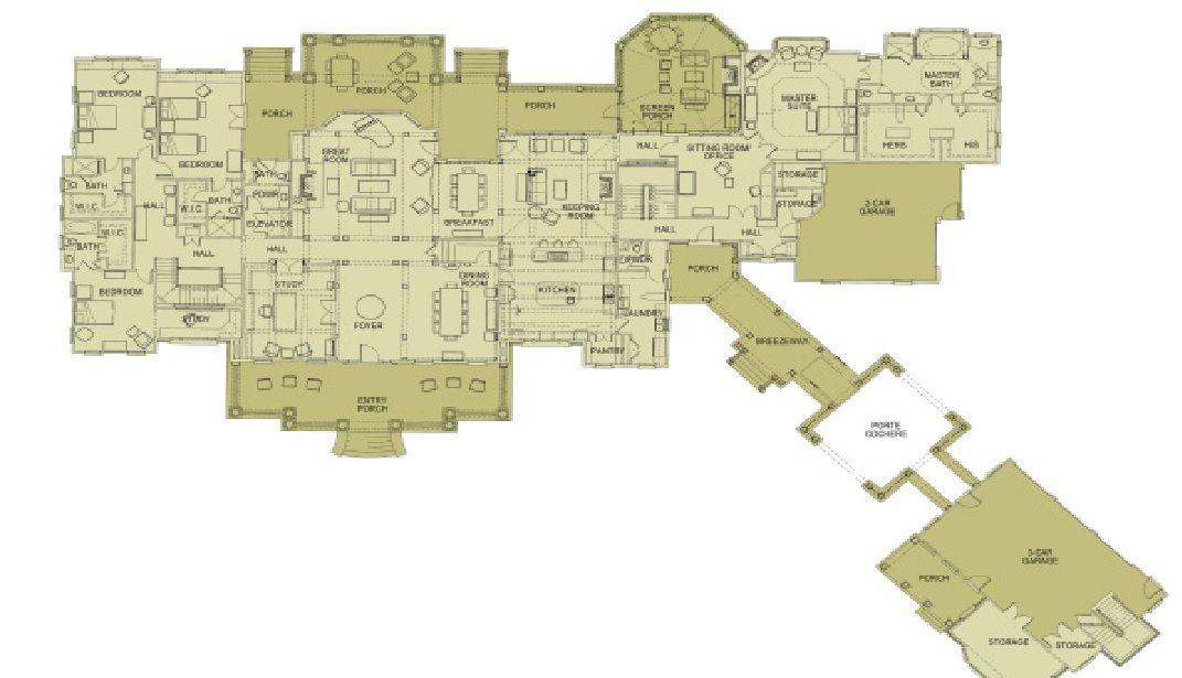 19 000 Square Foot Georgian Estate On 26 Acres Providence Main Level Floor Plan Address 1865 Bethany Way Milto Floor Plans House Floor Plans How To Plan