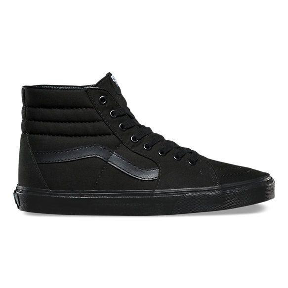 Canvas Sk8 Hi | Shop Shoes | Black high top shoes, All black