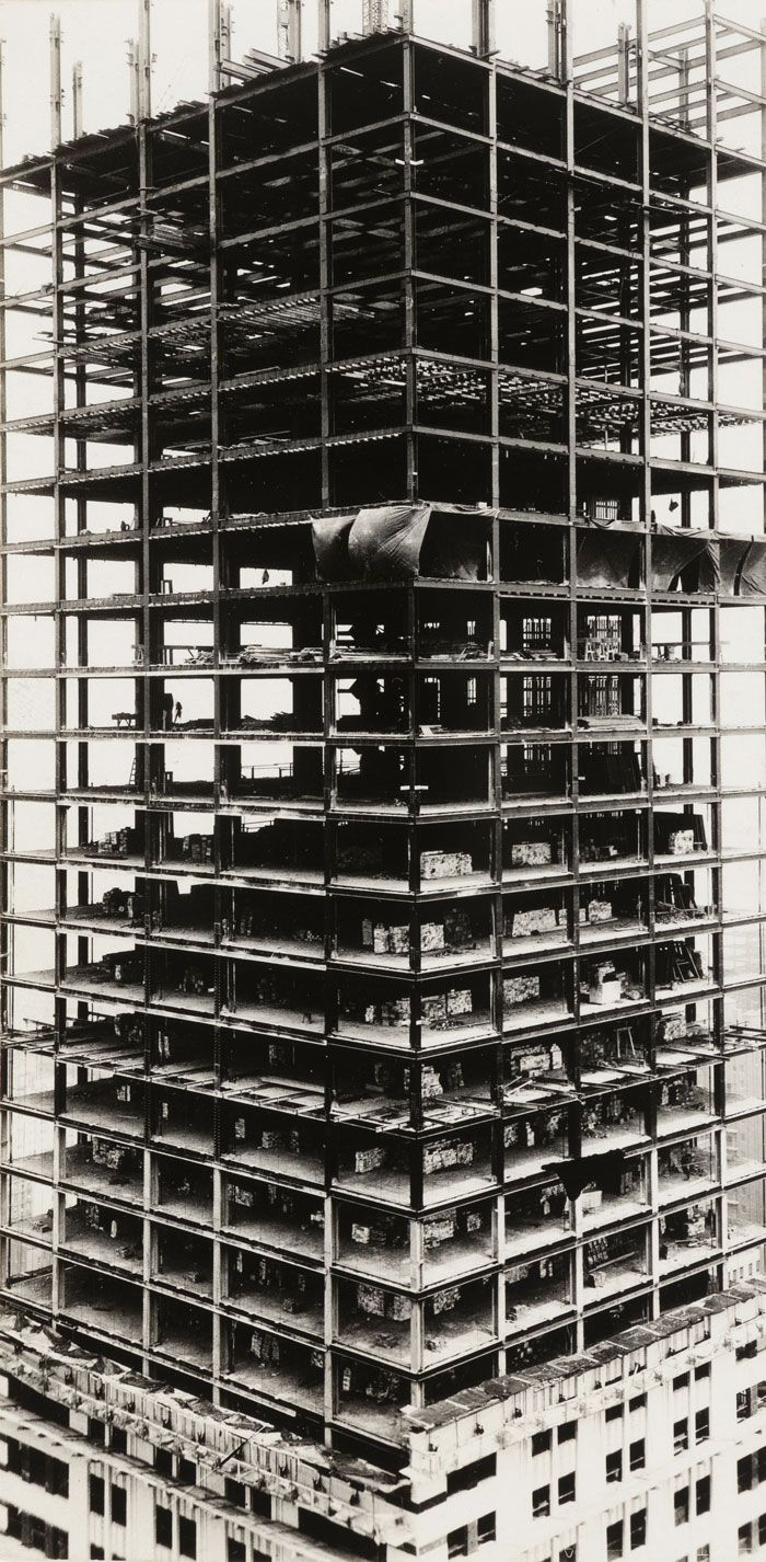 Walker Evans. 'Chrysler Building under construction, New ...