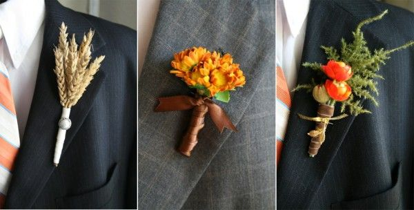 Fall Boutonnieres - Once Wed | Boutonnieres, Fall wedding ...