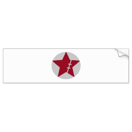 Scar star in circle bumper sticker - logo gifts art unique customize  personalize