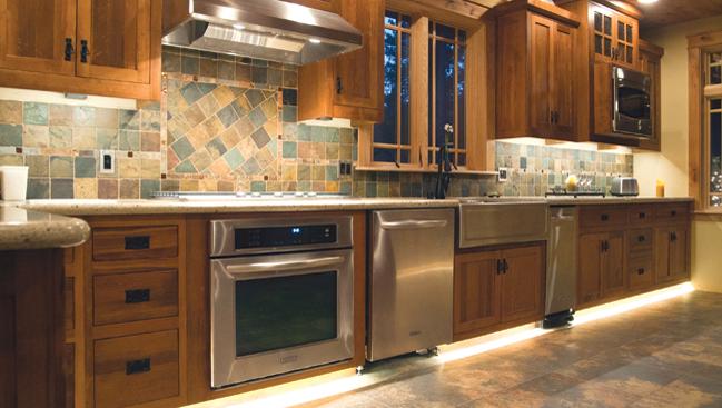 Floor Level Led Lights Kitchen Cabinet Styles Kitchen Design Mission Style Kitchen Cabinets