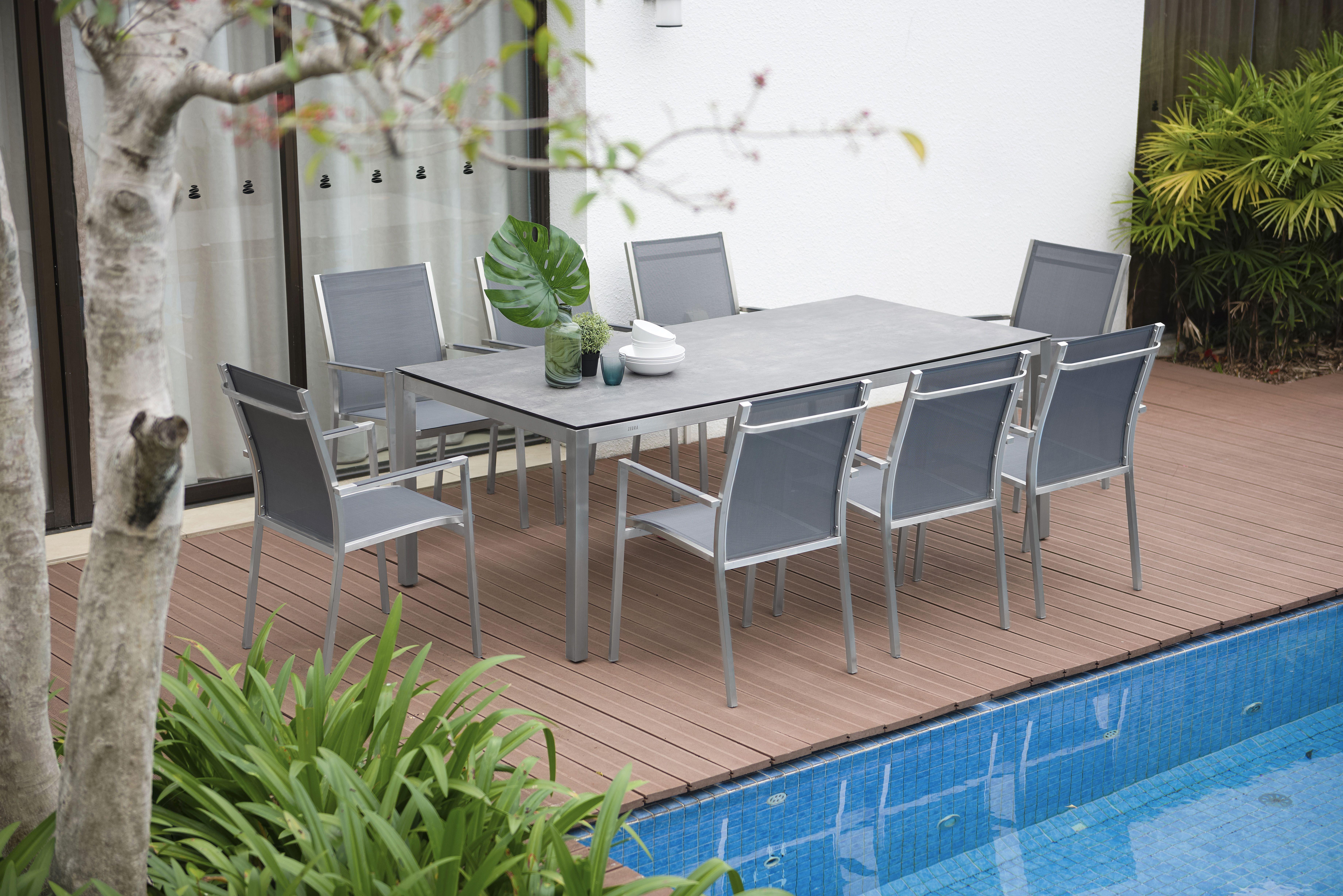 Zebra Tischsystem Opus Gartenmobel Metallgartenstuhle Und Zebra