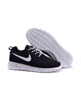 1245a06250a0 Nike Roshe Run Fur Ink Spot Black Speckled White Shoes Suede