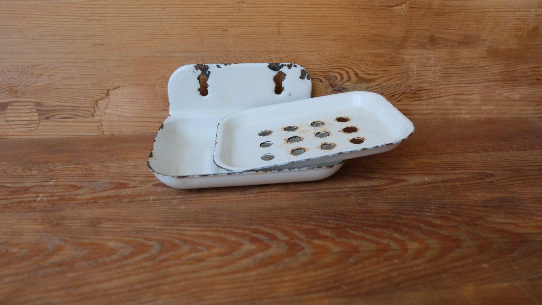 Vintage Enamel Soap Dish