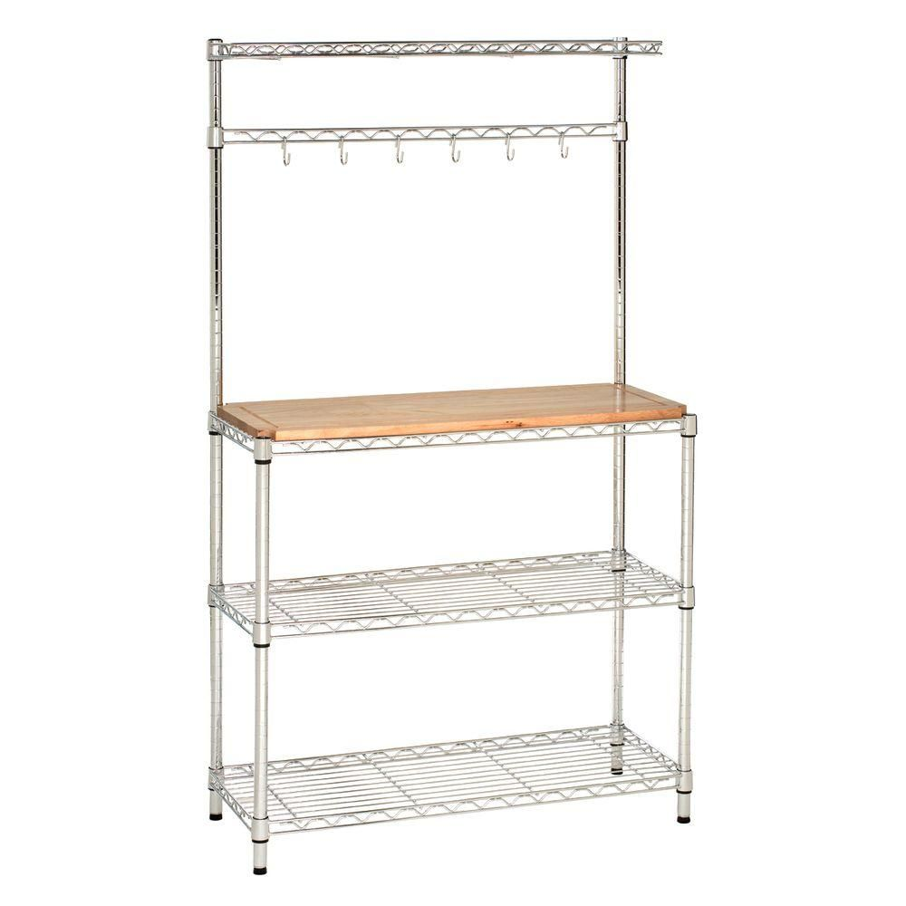 Seville Classics Ultrazinc Steel Kitchen Utility Table With Rubber