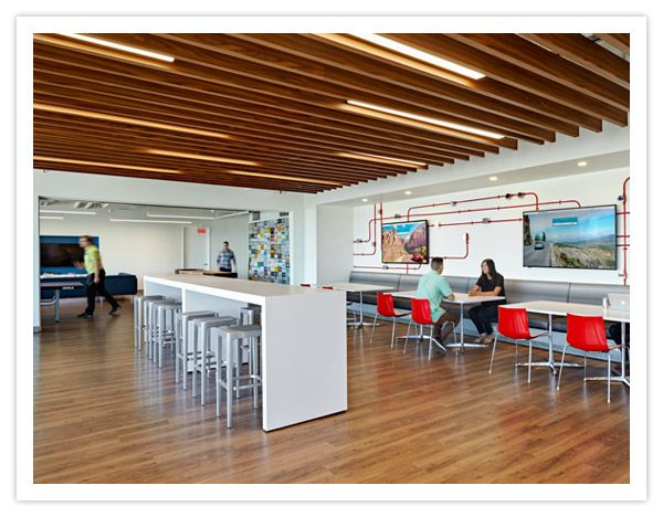 The Wood Slat Ceiling With Interspersed Hp 4 Direct