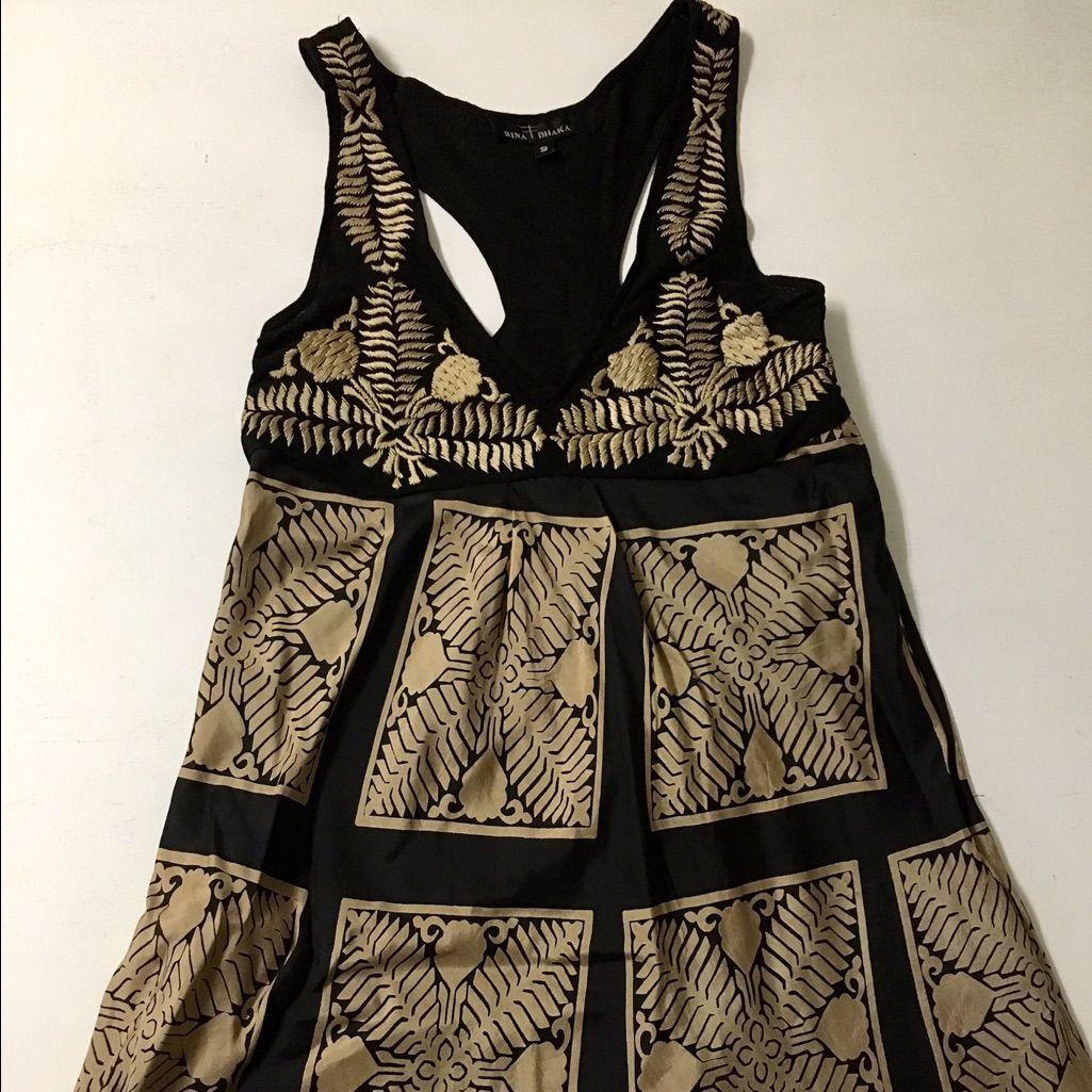 Rare rina dhaka embroidered u silk dress embroidered silk and products