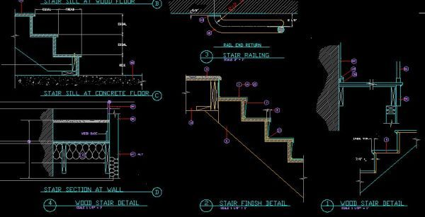 Stair Details-CAD Library | AutoCAD Blocks | AutoCAD Symbols |