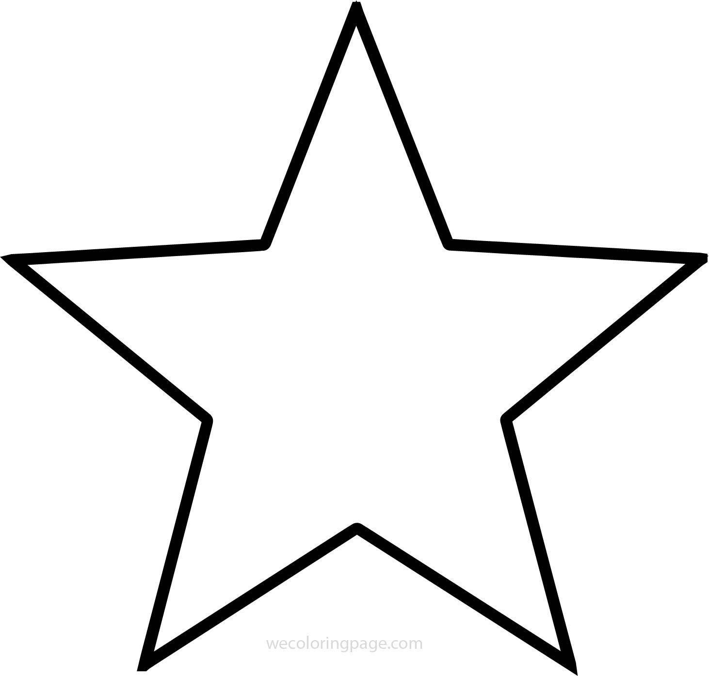 Just Star Coloring Pages