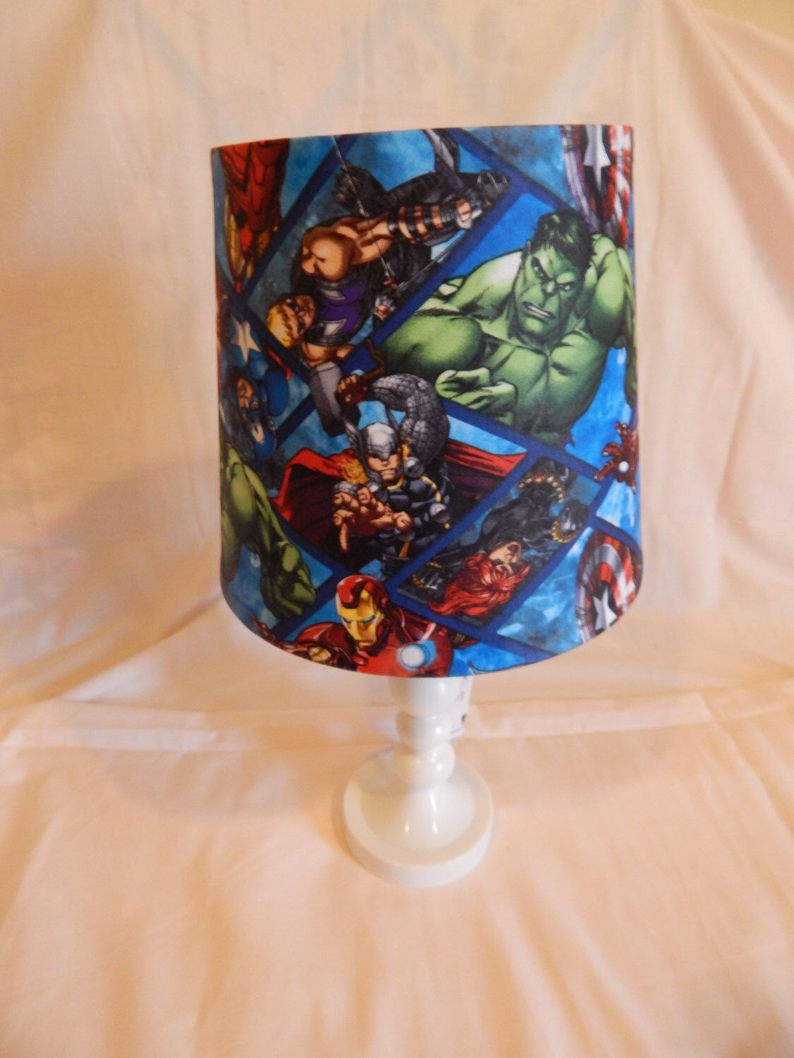 Avengers lamp shade children nursery baby nurseries baby nursery avengers lamp shade children nursery baby by craftymom1998 on etsy https aloadofball Gallery