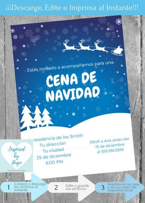 Invitación Cena De Navidad Invitación Cena Familiar Cena