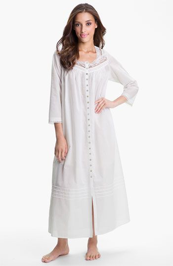 d5d065b46d Eileen West Button Front Nightgown