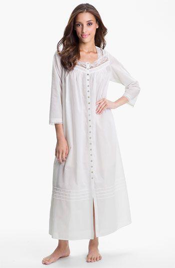Eileen West Button Front Nightgown  55ba4d972