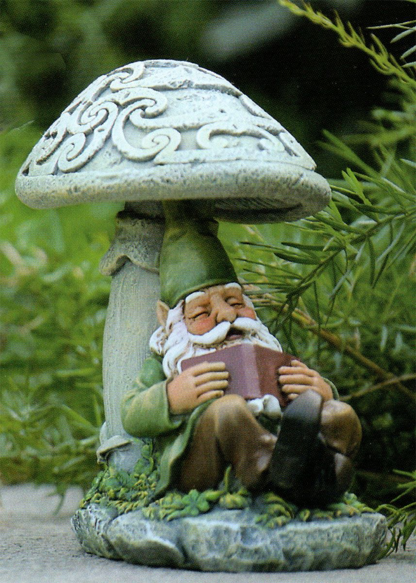 Celtic Garden Mushroom Gnomes 3 Designs Traditional Vintage Resin ...