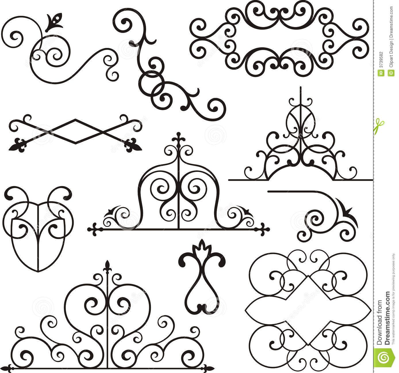 Wrough Iron Ornaments Stock Photography Image 3739582 Wrought Iron Decor Iron Decor Wrought Iron