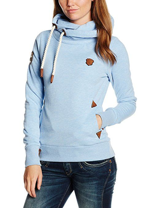 Naketano Damen Kapuzenpullover Darth Vii, Blau (Amazing Blue